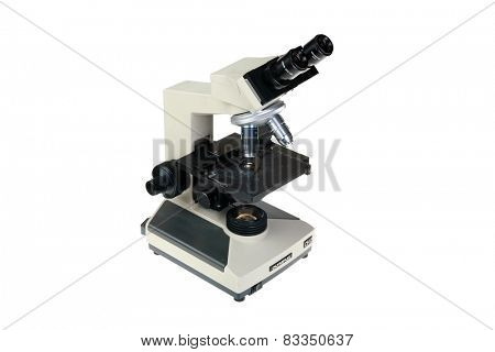 Lake Forest, CA - February 20, 2015: Olympus Standard Stereo Microscope is used in diverse fields ranging from electronic, chemical,  metallurgical, textile, medicine, biology, and more.