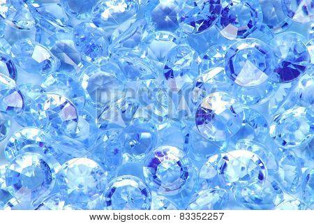close up of the blue diamond