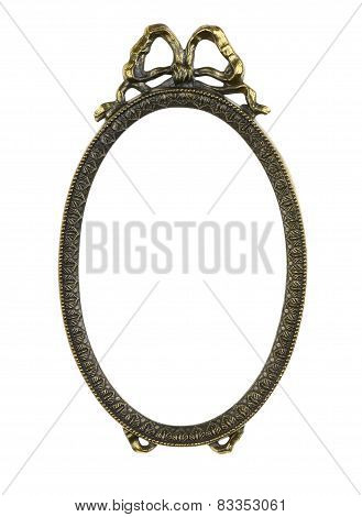 Bronze Picture Frame with Bow
