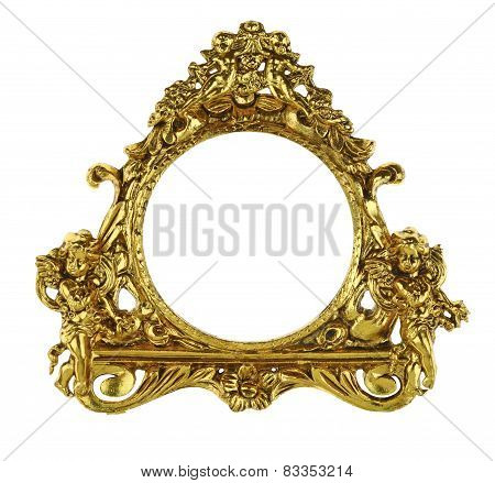 Gold Cherub Picture Frame