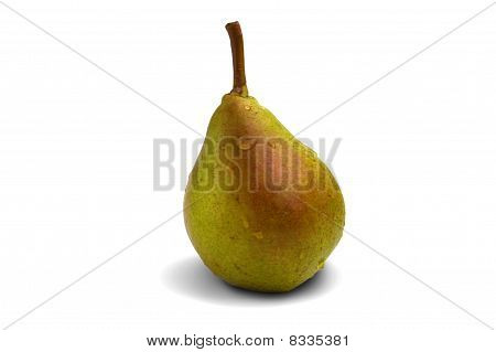 Ripe Pear Isolated On White Background