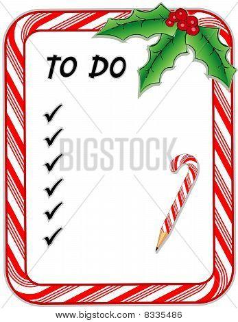 """Christmas """"To Do """" List"""