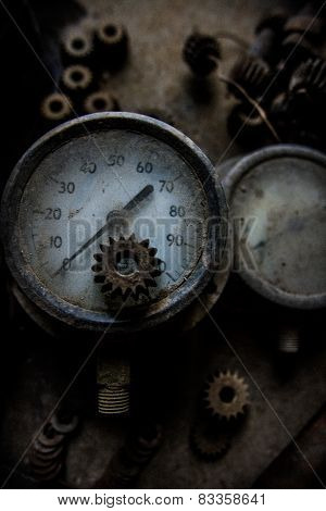 Old gauges and gears