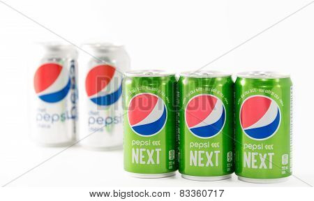 The New Pepsi Next Over White Background