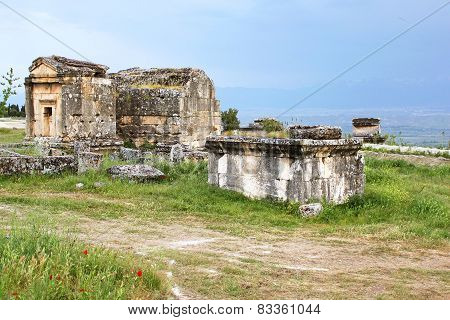 Ancient Tombs In The Necropolis, II - Xiv Century Ad, Hierapolis, Turkey
