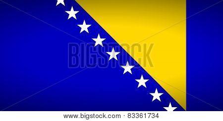 Flag Of Bosnia And Herzegovina.