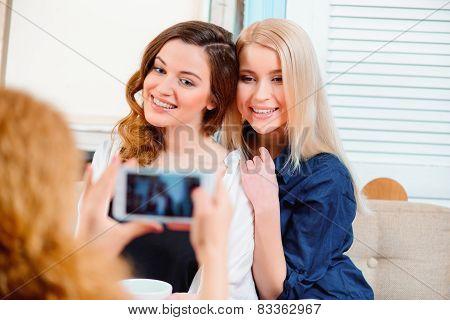 Beautiful women in the cafe