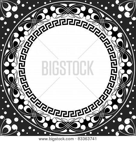 vector white pattern of spirals, swirls and chains