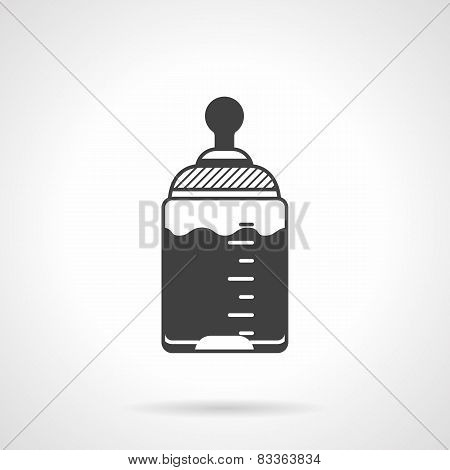Baby bottle black vector icon