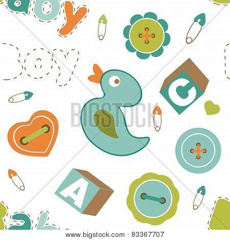 Colorful baby boy pattern