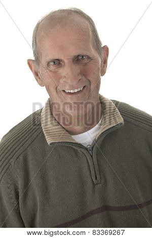 A man portrait around 60 years who smiling