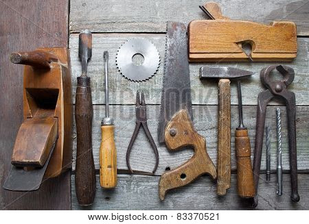 Old hand tools table.