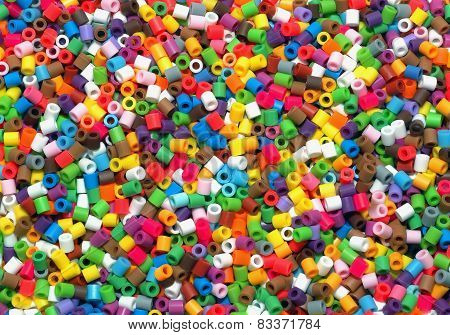 Rainbow Colorful Bead Background