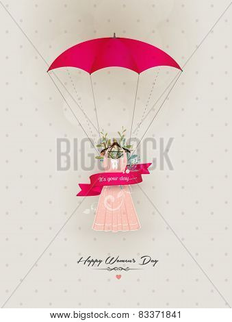 Happy Women's Day Decorative Dress