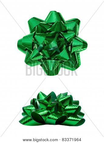 Green Present Holiday Bow