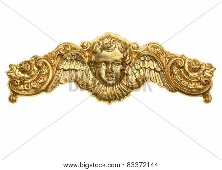 Gold Cherub Ornament