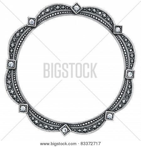 Round Silver Picture Frame