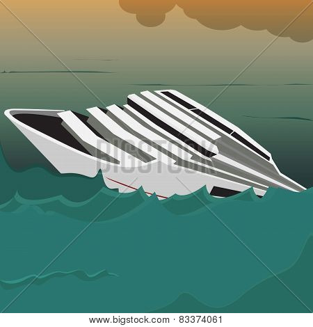 Capsized Cruise Ship
