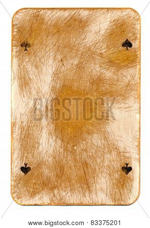Antigue Rubbed Playing Ace Card Paper Background