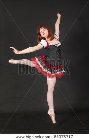 Girl In A Ballet Jump