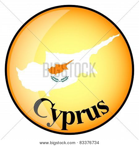 Orange Button With The Image Maps Of Cyprus