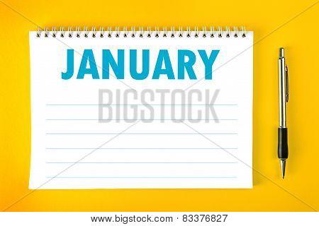 January Calendar Blank Page