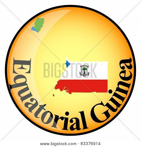Orange Button With The Image Maps Of Button Equatorial Guinea
