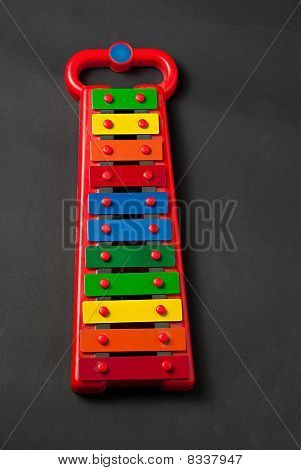 Xylophone Metallophone For Kids On Dark Grey Background
