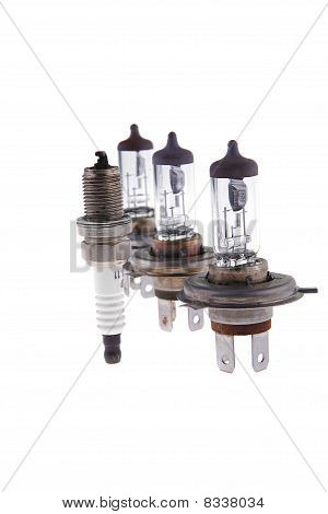 Car Headlight Lamp And Candle