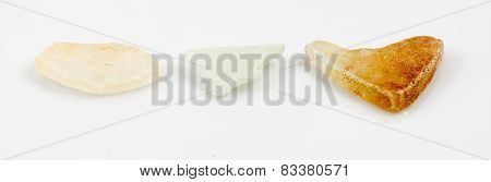 Single Piece Of Glass Isolated On White Background