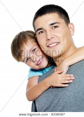 Happy Portrait Of The Father And Son