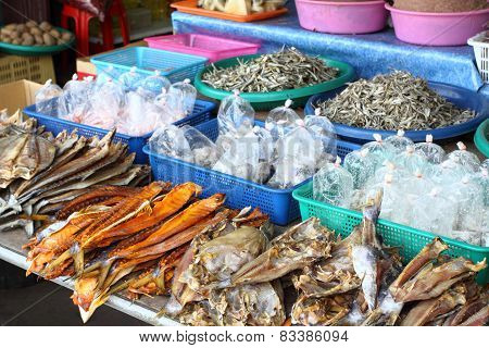 Street Market With Fish