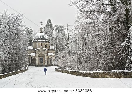 Man Walking In The Snowfall