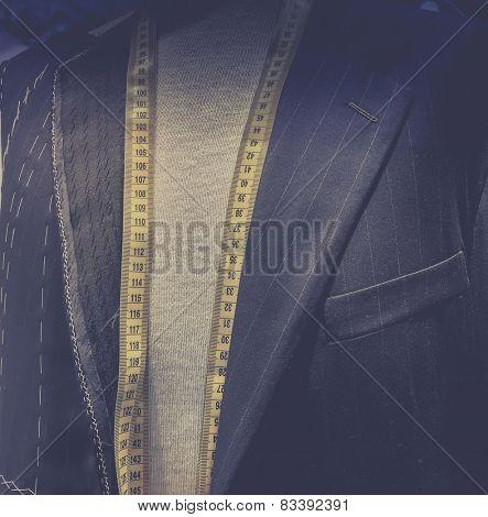 Taylor made men's designer suit - tape measure