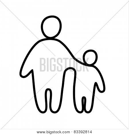 family icon - vector sign