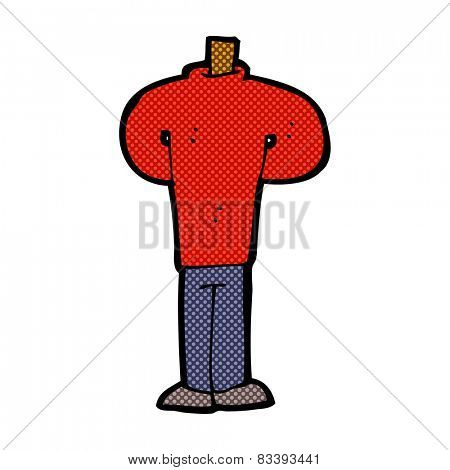 retro comic book style cartoon body standing still  (mix and match retro comic book style cartoons or add own photos)