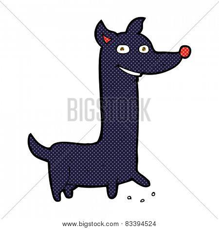 funny retro comic book style cartoon dog