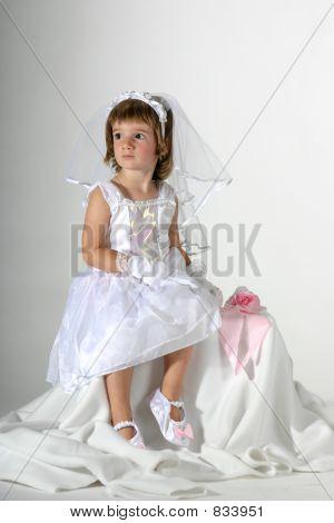 little bride sitting