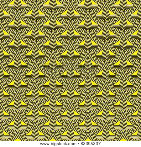 Blue and yellow star design for abstract seventies background