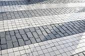 image of zebra crossing  - Zebra crossing without anyone crossing it - JPG
