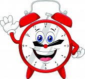 picture of waving hands  - Vector illustration of Cartoon clock waving hand - JPG
