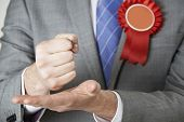 image of politician  - Close Up Of Politician Making Passionate Speech - JPG