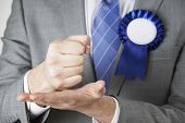stock photo of politician  - Close Up Of Politician Making Passionate Speech - JPG