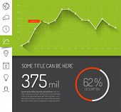 picture of graph  - Simple infographic dashboard template with flat design graphs and charts  - JPG