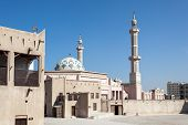 stock photo of emirates  - Mosque in the emirate of Ajman United Arab Emirates - JPG