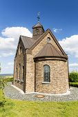 pic of chapels  - A little chapel on a hill overlooking beautiful landscape in the North Eifel in Germany - JPG