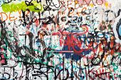 image of graffiti  - Graffiti as a wall texture colorful and chaotic - JPG