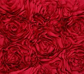 pic of rosettes  - Red Rosette 3d Rose texture background fabric - JPG