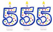 picture of 5s  - candles number five hundred fifty - JPG