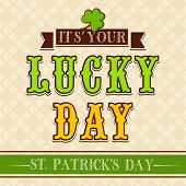 stock photo of saint patrick  - Vintage Happy St - JPG